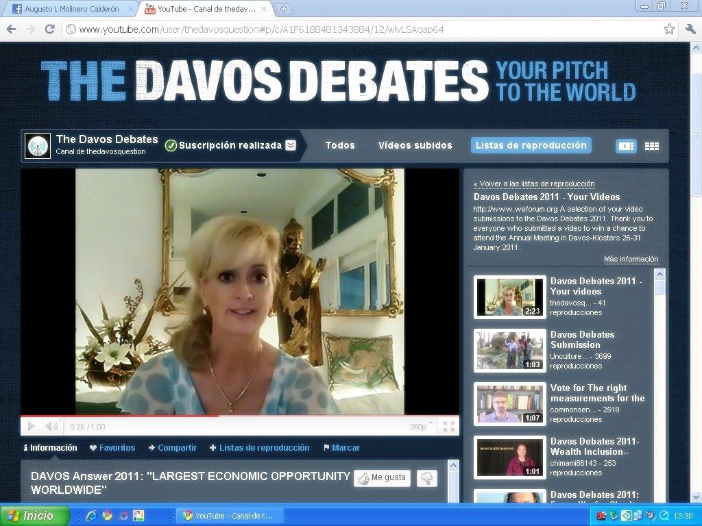 Sandra Rupp in The Davos Debates 2011 Video