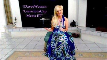 Sandra Rupp #DavosWoman, Dress by Analili, Miami